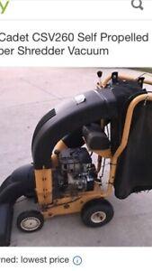 Cub cadet leaf vacuum works great $900 obo