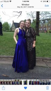 Size 6 navy and blue prom dresses