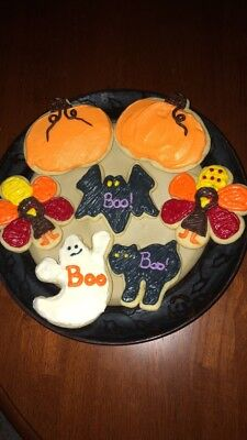 Homemade Frosted Sugar Cookies / Fall / Halloween / Thanksgiving