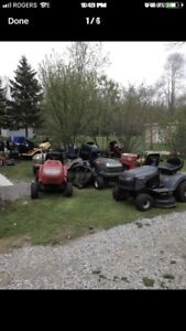Lawn tractor / lawnmower service and repairs