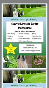 Cuzzy's Lawn and Garden maint Stirling Stirling Area Preview