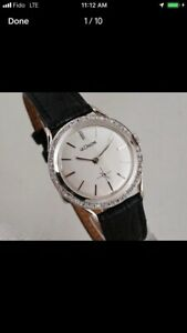 LeCoultre men's watch solid 14k white gold