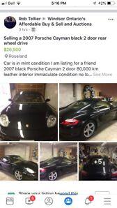 2007 Porsche Cayman 80,000km $26,500
