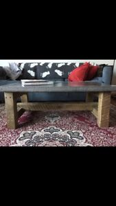 Concrete Top Reclaimed Coffee Table