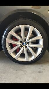 "Bmw 535i 19"" staggered wheels"