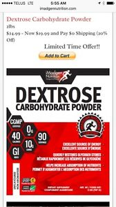 Carbohydrate powder case of 8 packs for 10$