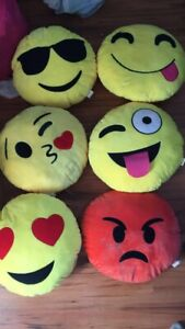 Six emoji pillows