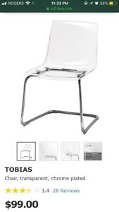IKEA - Tobias transparent chair