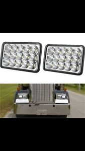 (NEW) 4x6 LED HEADLIGHTS PETERBILT KENWORTH