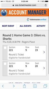OILERS playoff tickets !! Game 5