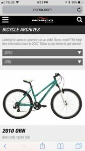 Barely Used Norco Orn Mountain Bike