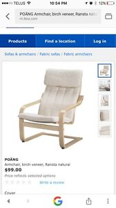 IKEA pong chair.  New condition.