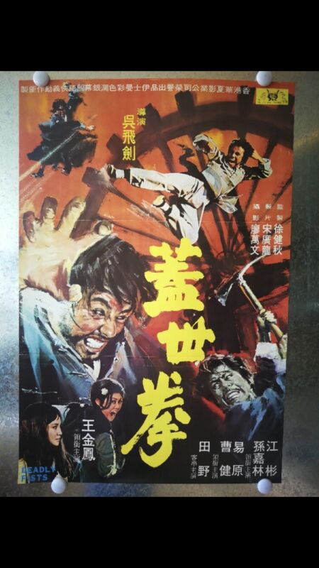 DEADLY FIST 1972  Original Martial Arts Theatrical Poster  NEW