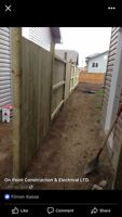 Custom deck and fence buulds