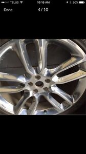 "2 - Ford Edge Sport 22"" Chrome Rims Only  (Tires Not Included)"