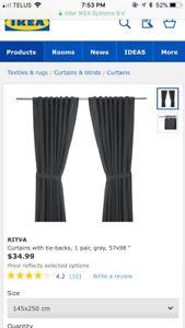 Ritva IKEA curtains