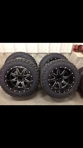 305/55/20 Goodyear Duratracs on 20x12 Fuel Mavericks