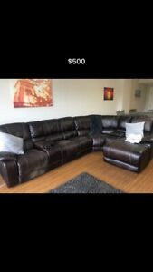 Configurable Sectional Reclining Couch