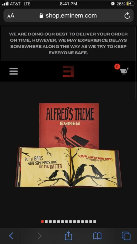 Eminem Alfred's Theme Lyric Book New RARE