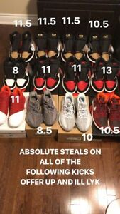 JORDANS AND YEEZYS BRED TOES GOLD TOES BLUE TINTS AND MORE