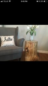 Decor - Solid log side table