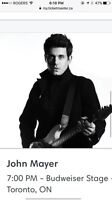 JOHN MAYER TORONTO AUGUST 29 - 2 TICKETS
