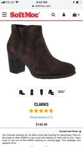 Clarks brown ankle bootie