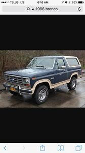 Looking for 1980- 1986 Ford Bronco