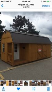 Shed - 10' X 20' Side Lofted Porch Barn