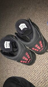 BARELY USED RED AND BLACK JORDANS