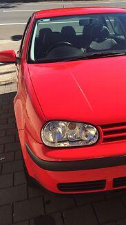 Red VW Golf