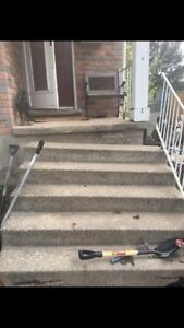 Need these stairs busted apart and taken away.