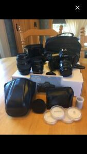 EOS 650, lenses, flash, perfect used condition