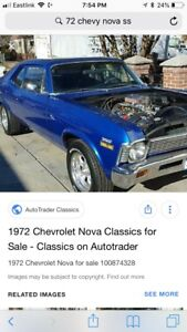 Looking to buy 72 Chevy Nova ss parts