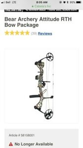bear attitude compound bow (left handed)