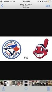 BLUEJAYS AND CLEVELAND FOUR TICKETS GREAT VIEW