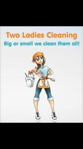 2 girls cleaning