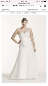 Size 16 A-Line wedding dress *price reduced**