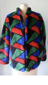 Vintage LOS ANGELES TAILORED OF MELBOURNE Synthetic Fur COAT/JACKET* L