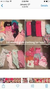 Baby girl clothing lot 3-6 months 20$