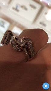 Rose gold and diamond ring