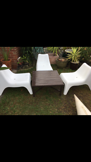 Vintage Retro Style Tub Chairs & Table Delivery Available