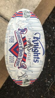 Signed Newcastle Knights 2008 rugby