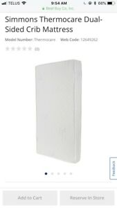 Simmons double side crib mattress