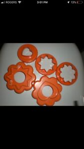 Looking for: Tupperware 5 piece cookie cutter set