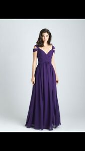 Deep purple Allure bridesmaid dress