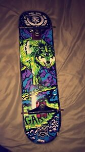 Element skate board deck and trucks