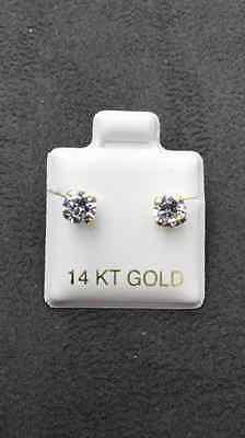 14 KT Yellow Gold Stud Earrings Screw Back (pierced) 5MM 14k Yellow Gold Pierced Earrings