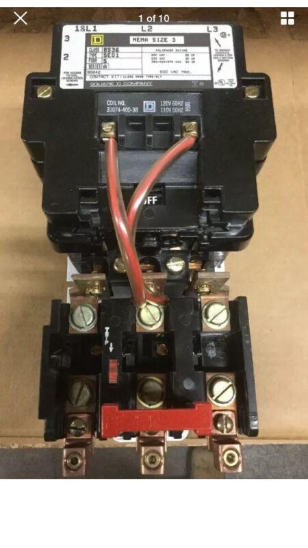 Square D Nema Size 3 8536SEO1V02S Motor Starter New