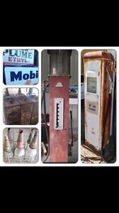 Cash paid for petrol bowsers. Signs. Oil bottles. Heatherbrae Port Stephens Area Preview